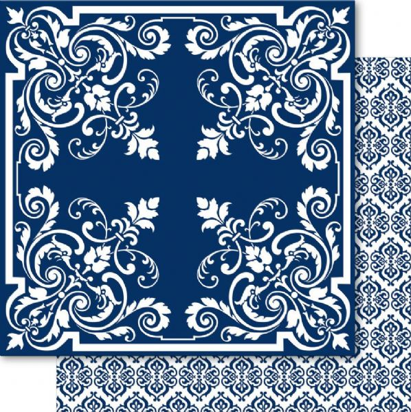 China Blue 12x12 Cardstock Showpiece